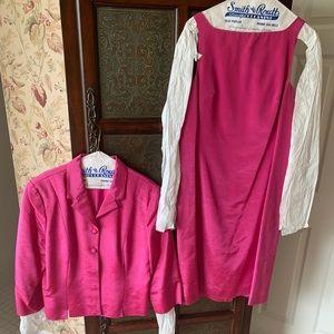 Silk jacket and sheath dress. Nicole Miller sz 12